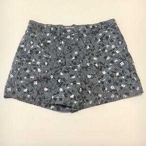 Tailored Floral Shorts 6R